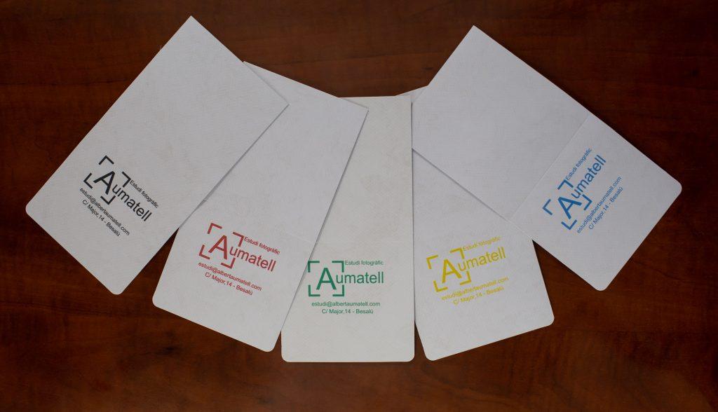 Sobres per posar les fotos de Carnet amb el nostre logo de Colors